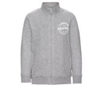 Sweatshirt mit Reißverschluss nitvermond grau
