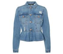 Rüschen-Jeansjacke blue denim