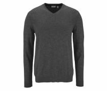 V-Ausschnitt-Pullover basaltgrau