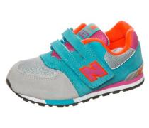 Sneaker 'kv574-Wti-M' türkis / grau / neonorange / pink
