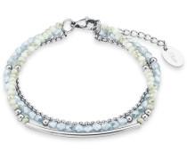 Armband mit Glassteinen silber