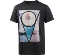Sections T-Shirt beige / blau / schwarz