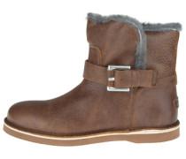 Lederstiefel 'short Boot' braun