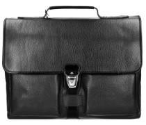 Plume Mix Uomo Aktentasche Leder 41 cm Laptopfach schwarz