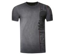 T-Shirt im verwaschenen Look grau