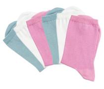 Socken (6 Paar) pastellblau / pink / weiß