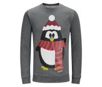Sweatshirt Xmas grau / rot / schwarz / weiß