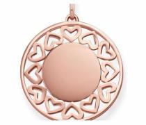 Kettenanhänger 'Herz Lbpe0013-415-40' rosegold