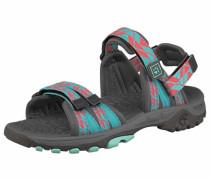 JACK WOLFSKIN Girls Bahia Outdoor-Sandale blau / grau / rot