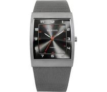 Armbanduhr silbergrau / rot / schwarz
