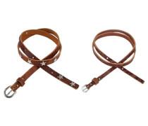 Ledergürtel »im Doppelpack« (Set) braun