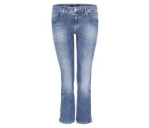 Sienna Slim Low: 7/8-Stretchjeans blue denim