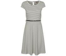 Kleid mit kurzen Ärmeln weiß