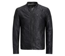 Leder-Jacke schwarz