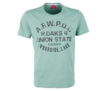 T-Shirt mit Vintage-Schriftzug blau
