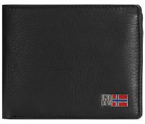 Mandal Geldbörse Leder 12 cm schwarz