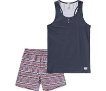 Schlafanzug für Mädchen navy
