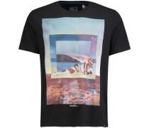 T-Shirt 'framed' schwarz
