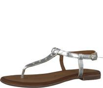 Zehentrenner-Sandale silbergrau