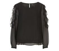 Bluse aus Chiffon schwarz