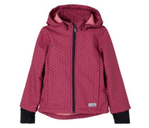 Multifunktionale Softshell-Jacke pink