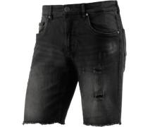Jeansshorts Herren black denim