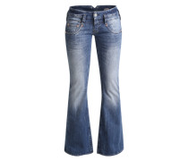 'Pitch Flare' Jeans mit Schlag blue denim