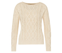 Pullover 'Cable CN' beige