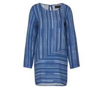 Blusenkleid 'Tangier' blau / weiß