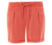 'Smart Short' Samtige Chino-Shorts orangerot
