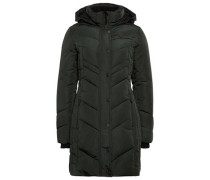 Coat gesteppter Mantel mit Kapuze dunkelgrün