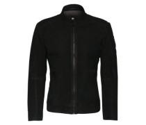 Lederjacke im Biker-Stil 'Jonate' schwarz