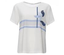 T-Shirt 'Satifah Print' blau / mischfarben