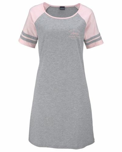 Nachthemd graumeliert / hellpink