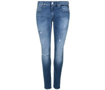 Jeans 'luz Destroyed' blau