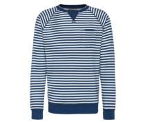 Sweatshirt '68 indi stripe' dunkelblau / weiß
