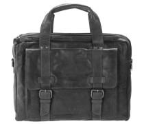 Bronco Business Handtasche Leder 41 cm schwarz