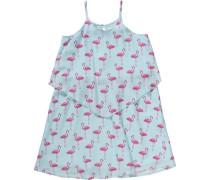 Kinder Kleid hellblau / dunkelpink