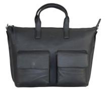 Toulouse 6 Handtasche Leder 44 cm schwarz