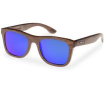 Sonnenbrille mit 'UV 400 Sonnenschutz' blau / braun