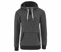 Kapuzensweatshirt dunkelgrau / schwarz