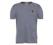 T-Shirt In der Genitalunion rauchblau