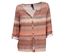Shirtbluse dunkelbeige / pfirsich / lachs
