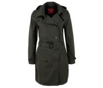 Leichter Mantel im Trenchcoat-Look dunkelgrün