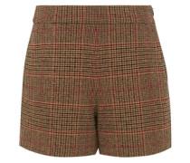 Shorts mit Glencheck-Karo beige