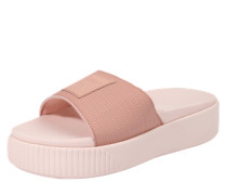 Pantolette 'Platform Slide' rosa
