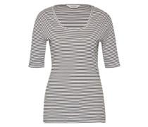 T-Shirt 'Basic' schwarz / weiß