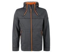 Leichte Jacke mit Kontrastfutter dunkelorange / schwarz