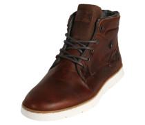 Sneaker in Patchwork-Optik braun
