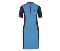Kleid mit Polokragen blau / schwarz